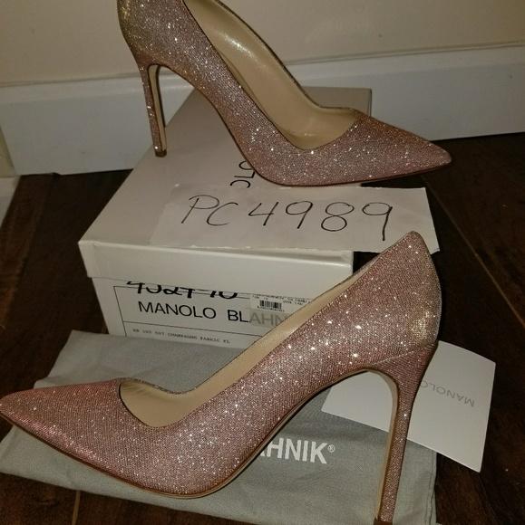Sold Manolo Blahnik Bb5 Champagne Pink